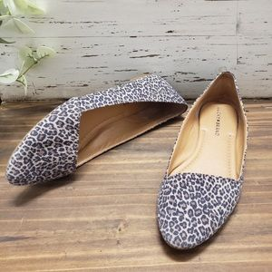 Excellent used condition animal print flats!